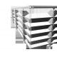 Garde corps aluminium à barres carrées