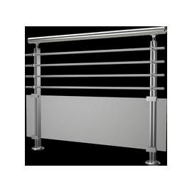 Garde corps Modulo verre et aluminium